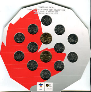 2010 Vancouver Olympic Winter Games Coin Set