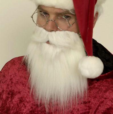 Weiße Kostüm Bart (Vollbart weiss Weihnachtsmann Nikolaus Seemann Bart Kostüm Karneval Fasching)