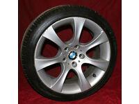"""BMW E60 Style 162 18"""" Alloy Wheels & Tyres 535d 530d 525d 530i Also 7 series E63 E65 E39 E38"""