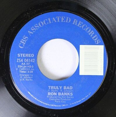 Rock Nm  45 Ron Banks   Truly Bad   Truly Bad  Instrumental  On Cbs Associated R