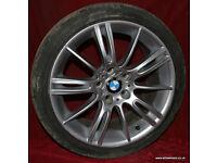 """BMW E46 E90 E85 1 / 3 Series 18"""" MV3 Genuine Alloy Wheels & Tyres 118d 120d 118i 318i 320d 330d 330i"""