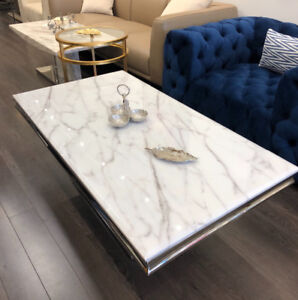 Real Marble Coffee Table + Dining Table SPECIAL OFFER