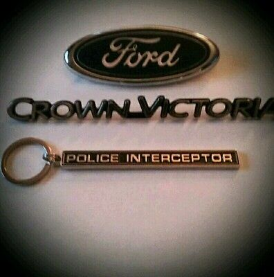 Police Interceptor badge keychain
