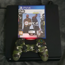 PS4 SLIM LINE & 1 GAME & 1 HEADSET (bargain)