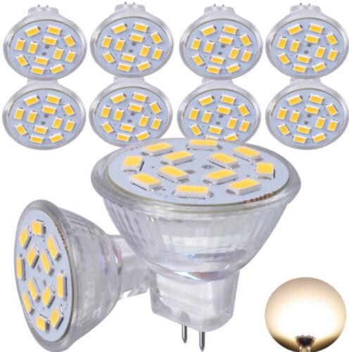 10x 4W MR11 GU4 LED Glühbirne Strahler Lampe Warmweiß Spot Leuchtmittel DC12V Z