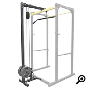 Power rack with cable attachment + more