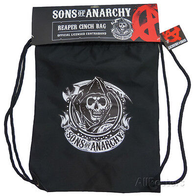 Sons Of Anarchy   Reaper Logo Drawstring Bag    15X19