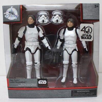 Star Wars 40th Anniversary Elite Series Han / Luke Skywalker Brown Hair Variant