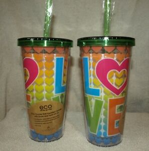 2 new double wall insulated tumblers perfect for resort travel