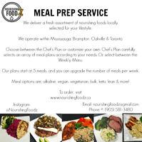 Meal Prep Service MISSISSAUGA, BRAMPTON, GTA