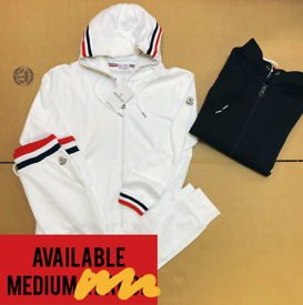 Moncler Hoodie Tracksuit In Black and White: Medium