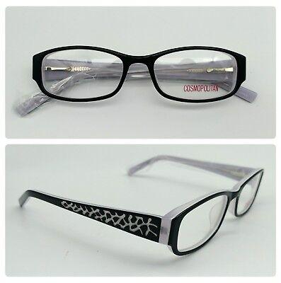 COSMOPOLITAN Eyeglasses Frames Glasses - SHOCKER, BLACK (50-17-140) NEW (Cosmopolitan Frames)