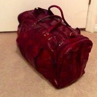 All Leather Travel bag- Maroon   $20