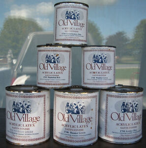 FULL CANS OF CLOSE OUT OLD VILLAGE PAINT