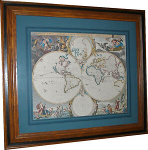 Replica of Antique Map of the World poster (Vintage, Antiques) West Island Greater Montréal image 3