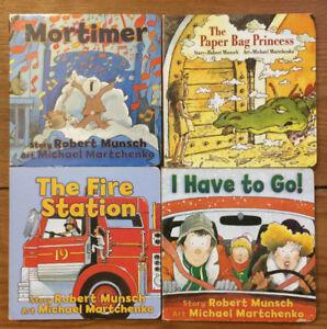 ROBERT MUNSCH Board Books 4 for $10