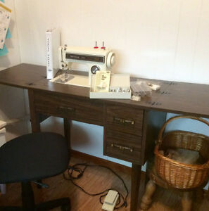 Kenmore sewing machine in cabinet