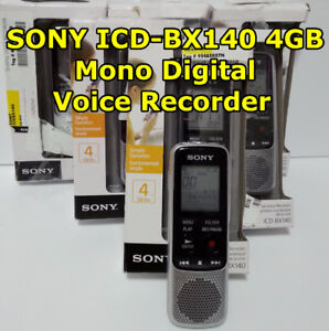SONY ICD-BX140, 4GB Mono Digital Voice Recorder - $30 each