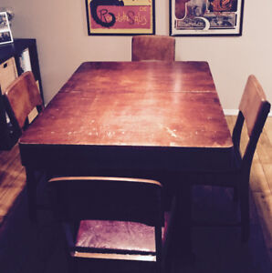 Antique Dining Table Set  - $180 OBO