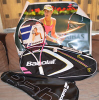 Women's Babolat Pulsion Genie racket, Tennis bag and Poster