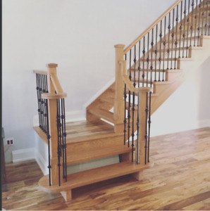 Stairs, Staining, Railings And Recapping