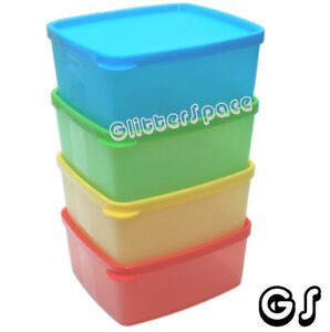 TUPPERWARE 500ML SMALL SQUARE ROUND SET (4) PBGY