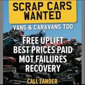 Scrap cars Van's 4x4 All wanted