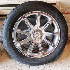 4 mags Chrysler chromer 18'' + pneus d'hiver / winter tires (225