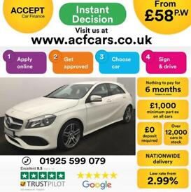 2016 WHITE MERCEDES A200 2.1 AMG LINE DIESEL MANUAL CAR FINANCE FROM 58 P/WK
