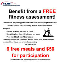 $50 for participation in an exercise study