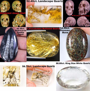 LOOSE GEMSTONES, FOSSILS, RUTILES,QUARTZ