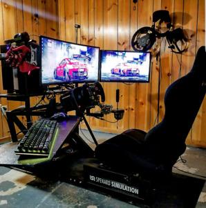 Sim racing, gaming pc fanatec alienware thrustmaster logitech
