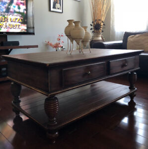 100% Wood 48x28 Antique Coffee Table - GREAT DEAL!