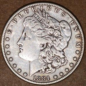 1884 Philly Morgan Silver Dollar (8808-8809)