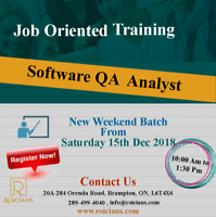 COMPLETE MANUAL+AUTOMATION TESTING WITH JOB SUPPORT, 15TH DEC 18