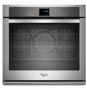 """Whirlpool WOS92EC0AS Single Wall Oven, 30"""""""