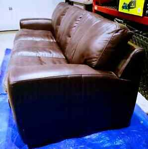 Sofa Bed - Brown Faux Leather
