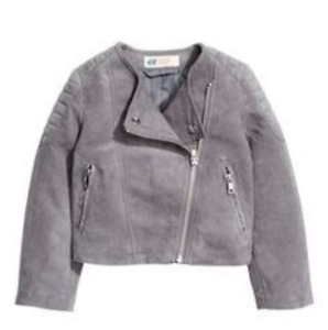 H&M Toddler Girl Faux Suede Biker Jacket (Size 3T)