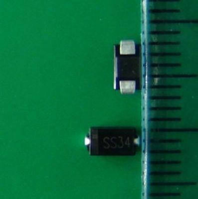 50pcs Ss34 Sx34 3a 40v 1n5822 Sma Do-214ac Smd Schottky Diodes