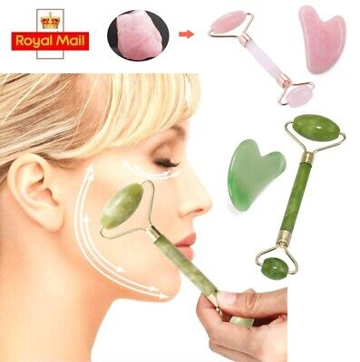Facial Jade Roller Massager Eye Face Neck Body Relaxation Slimming Tool