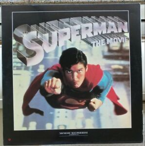 "Laser Disc ""Superman the Movie"" on 2 discs"