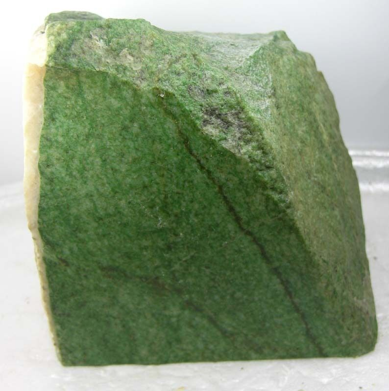 3160g Wyoming USA Natural Rough Green Jade Block Slab Chunk Specimen 6.97lb