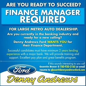 Experienced Automotive Finance Manager Required Edmonton Edmonton Area image 1