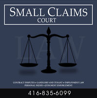Small Claims Court |416 835 6099