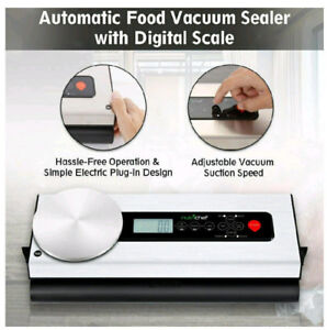 Brand new stainless steel vacuum sealer with attached scale!
