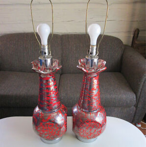Fantastic Large Mid Century Lamps w/Shades - Price is for each Cornwall Ontario image 1