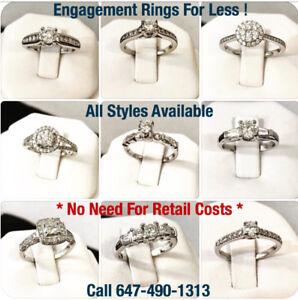 14K Gold Diamond Engagement Rings For Less ***Fully Certified !