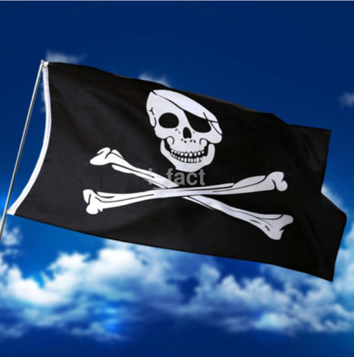 Hot Pirate Flag  Pirates Banner 3' X 5' Skull Crossbones With Patch US