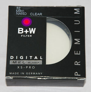 B+W 52mm XS-Pro Clear MRC Nano Lens Thin Filter