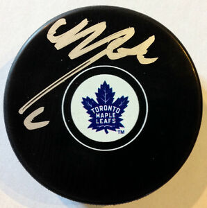 Mitch Marner Auto Maple Leafs 100th Anniversary Logo Puck Kitchener / Waterloo Kitchener Area image 1